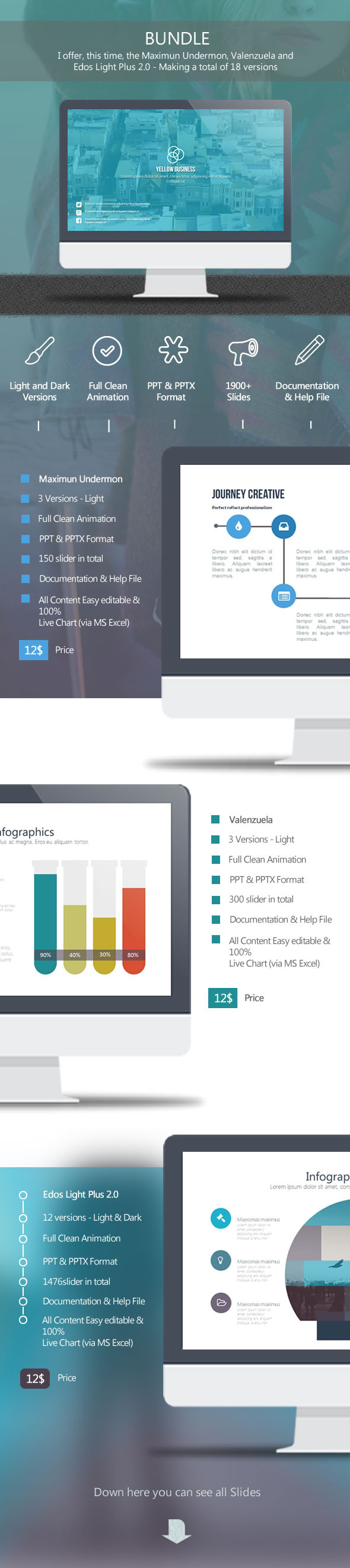 Bundle - Abstract PowerPoint Templates