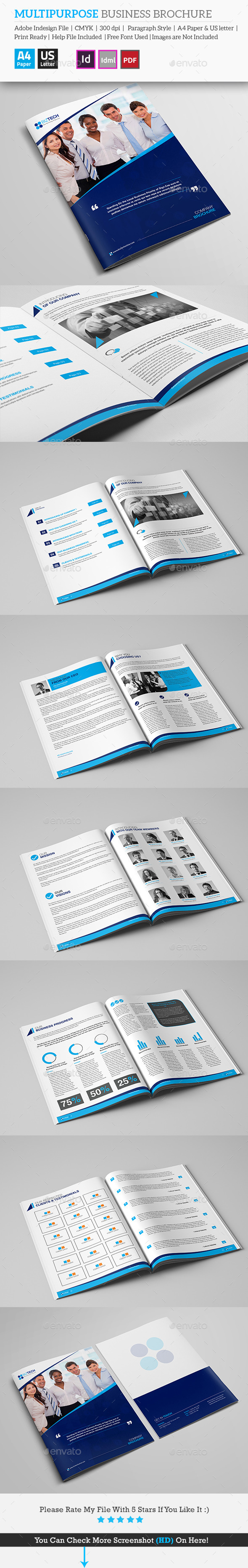 Multipurpose Business Brochure - Brochures Print Templates
