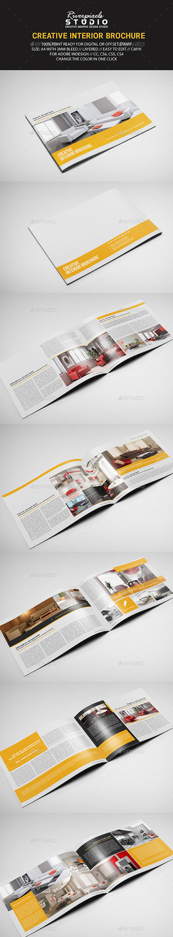 Interior Landscape Brochure Template - Informational Brochures