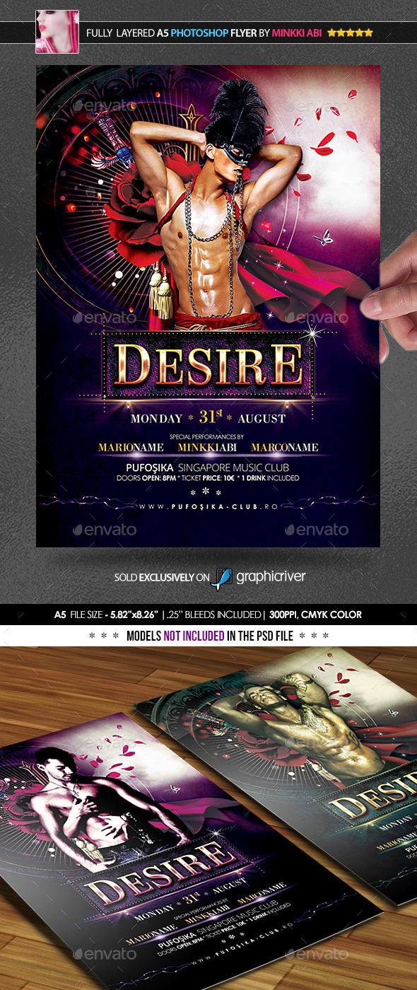 Desire Poster/Flyer - Flyers Print Templates