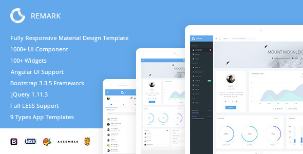 Remark – Responsive Bootstrap Admin Template