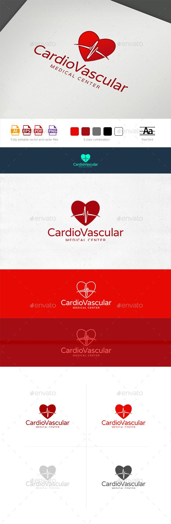 Heart Rhythm Logo Template - Symbols Logo Templates