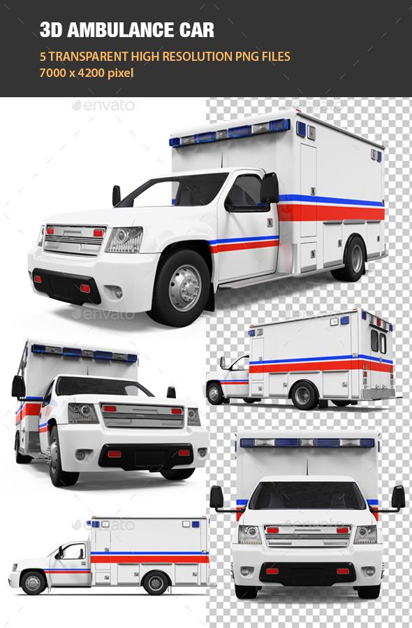 3D Ambulance Car - Objects 3D Renders