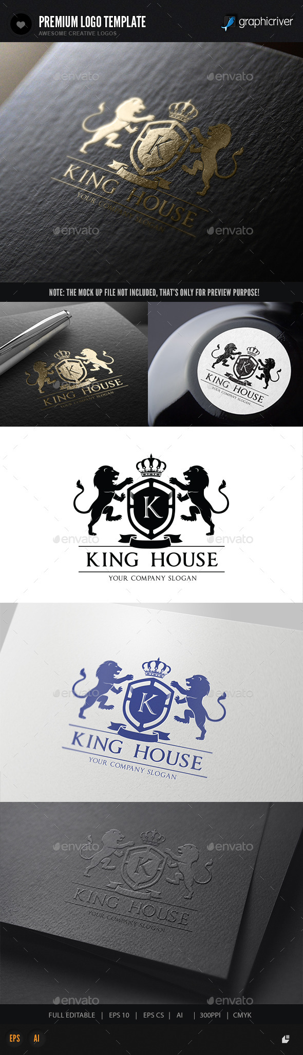 King House - Crests Logo Templates