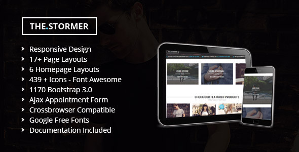 The Stormer Hipster Apparel HTML Template