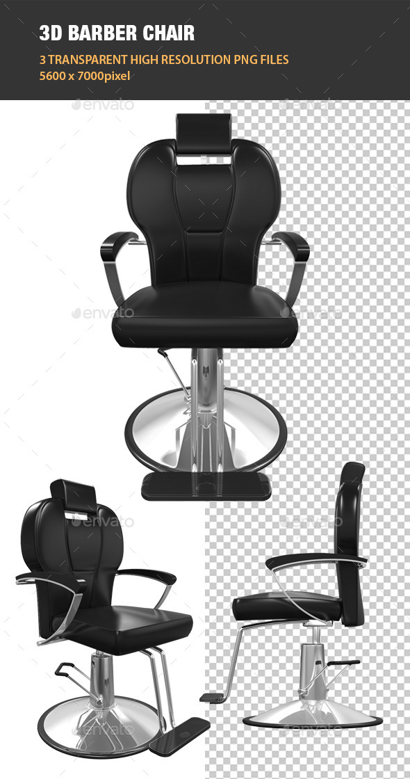 3D Barber Chair - Objects 3D Renders