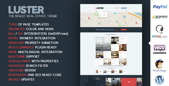 Luster – The Biggest Real Estate WordPress Theme