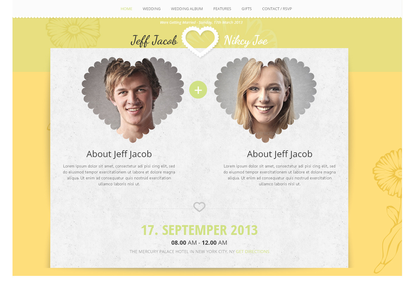 Wedding Slide Responsive Wedding Invite WordPress by AccuraThemes
