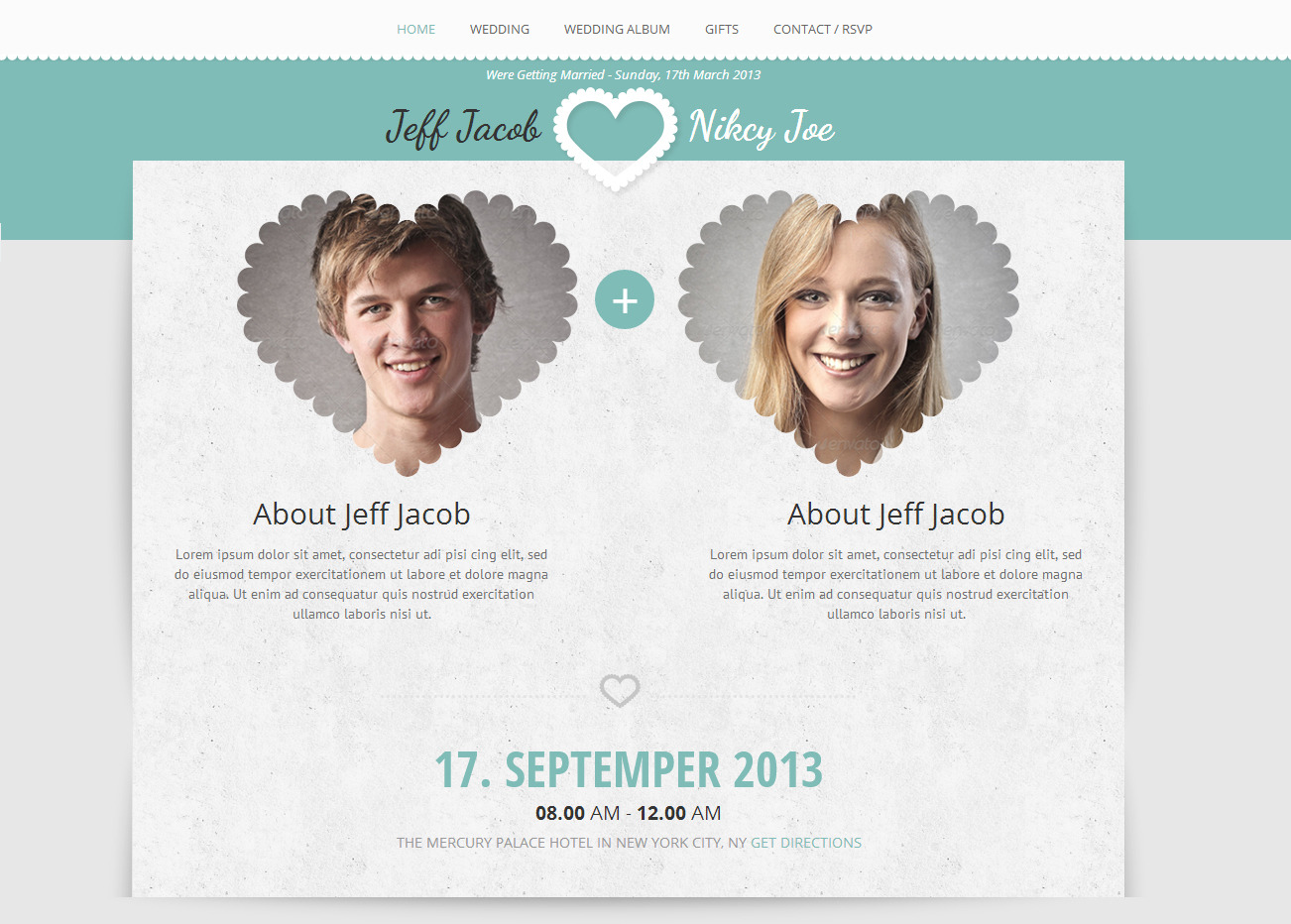 Wedding Slide Responsive Wedding Invite WordPress by AccuraThemes