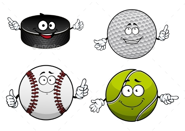 Ice Hockey, Golf, Tennis And Baseball Items - Sports/Activity Conceptual