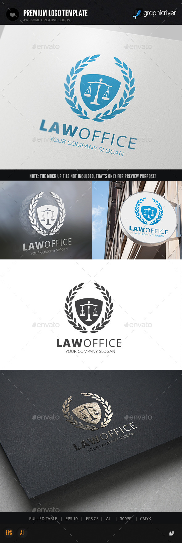 Law Office Logo - Crests Logo Templates