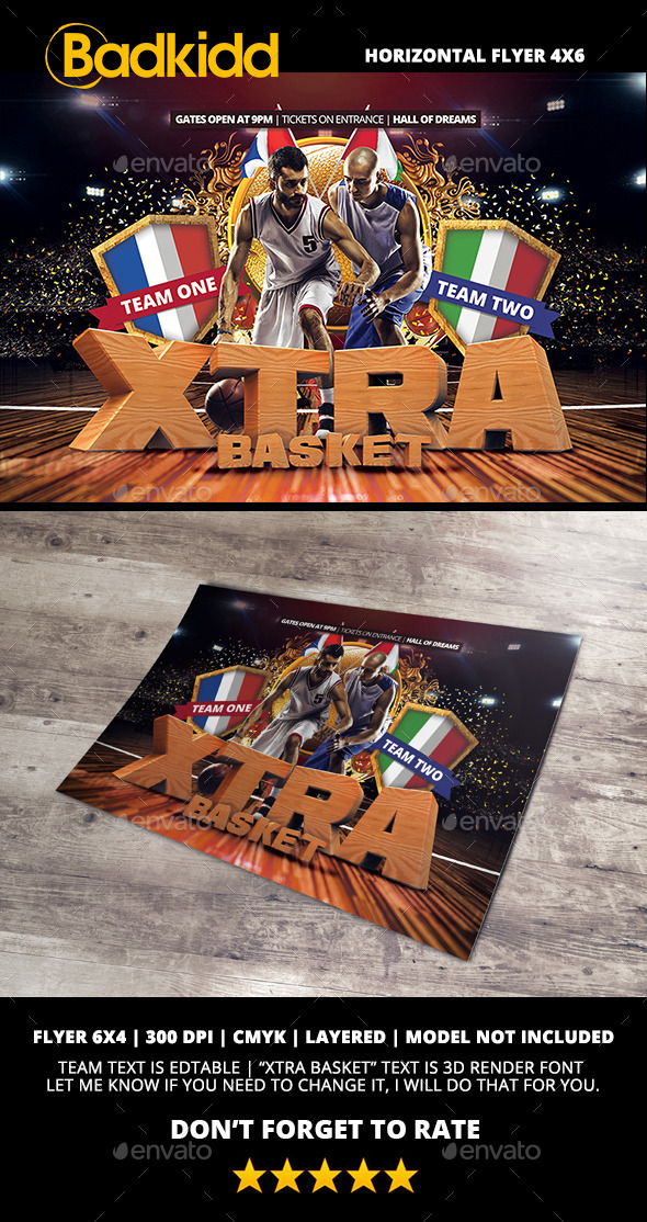 Basketball Flyer Horizontal - Sports Events