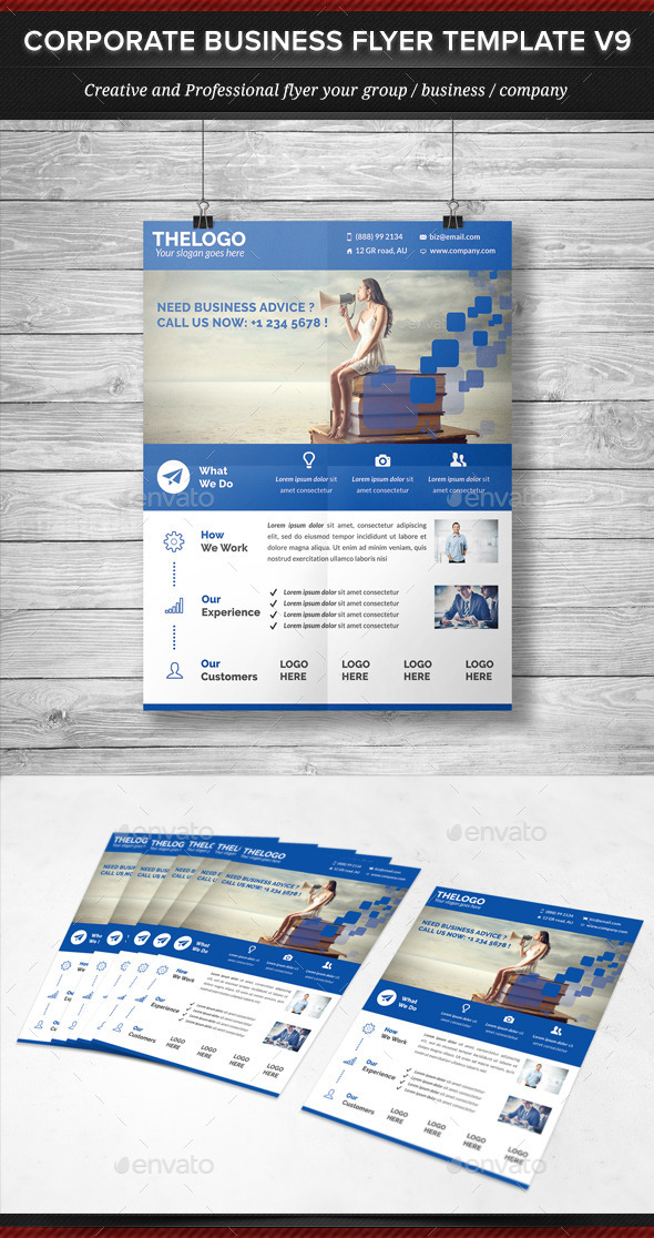 Corporate Business Flyer Template V9 - Corporate Flyers