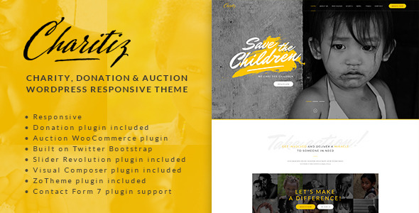 Charitiz – Charity, Donation & Auction WP Theme