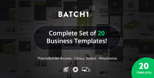 Batch1 – Complete Set of 20 Business Email Templates
