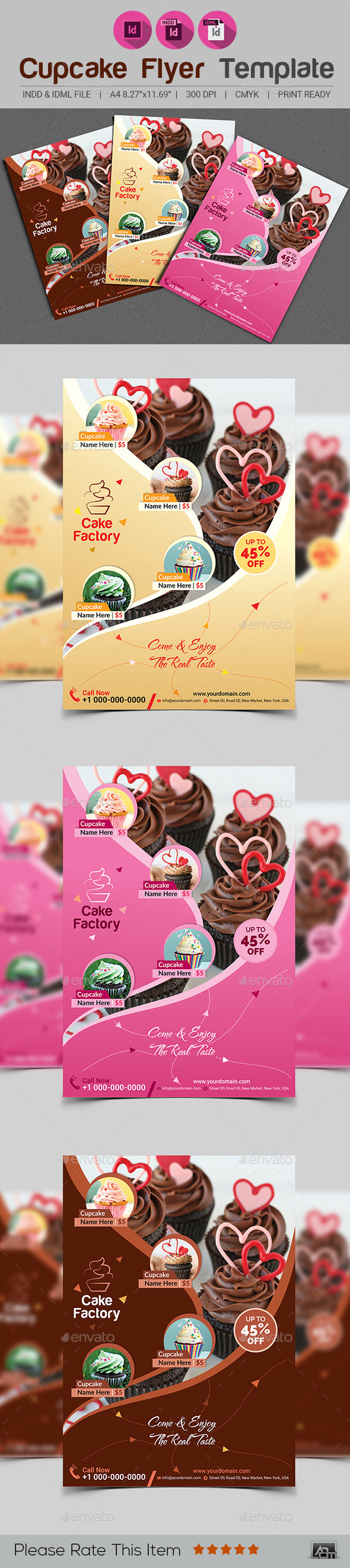 Cupcake Flyer Template V2 - Restaurant Flyers