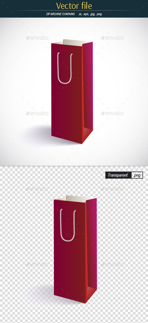 Red Paper Bag for Shopping - Commercial / Shopping Conceptual