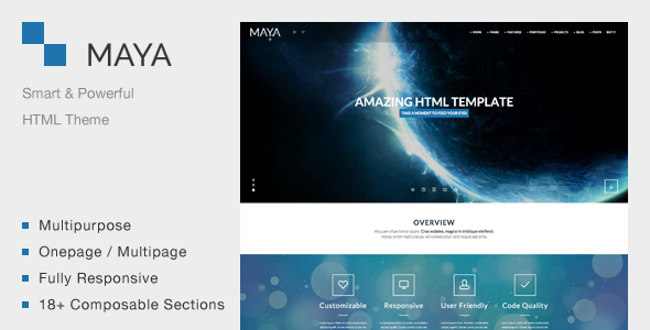 Maya – Smart & Powerful HTML Theme