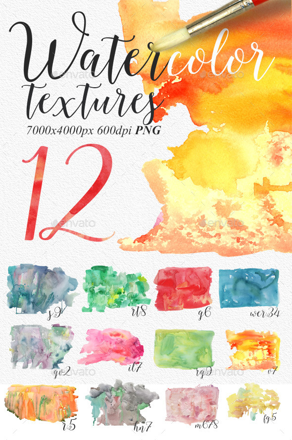 Watercolour Textures PNG - Backgrounds Graphics