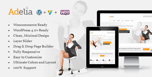 Adelia – Responsive Multi-Purpose WordPress Theme