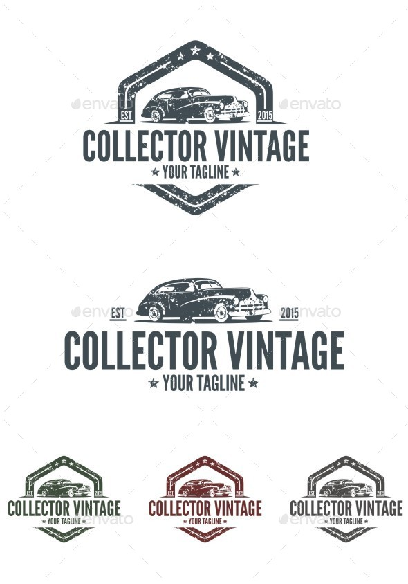 Collector Vintage Logo - Objects Logo Templates