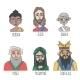 Different Confession and Religion Famous Men - GraphicRiver Item for Sale