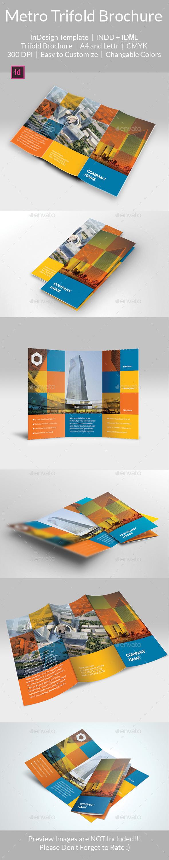 Metro Tri Fold Brochure Template - Brochures Print Templates