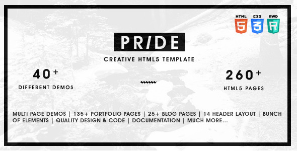Pride – Multipurpose HTML5 Template