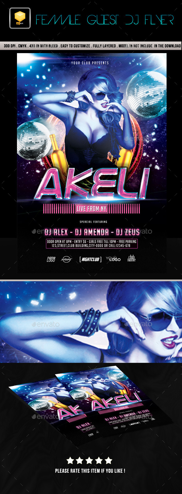 Female Guest DJ Flyer - Clubs & Parties Events