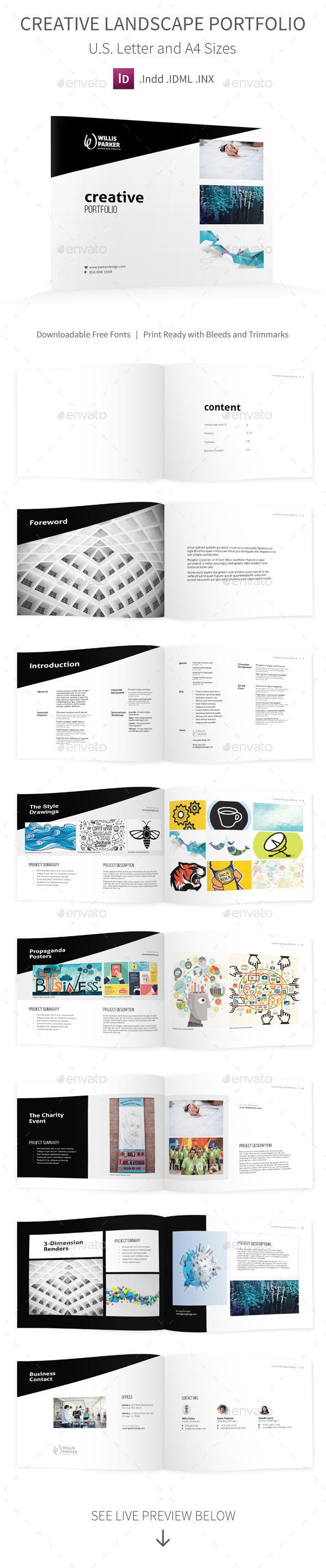 Creative Studio Landscape Portfolio - Portfolio Brochures