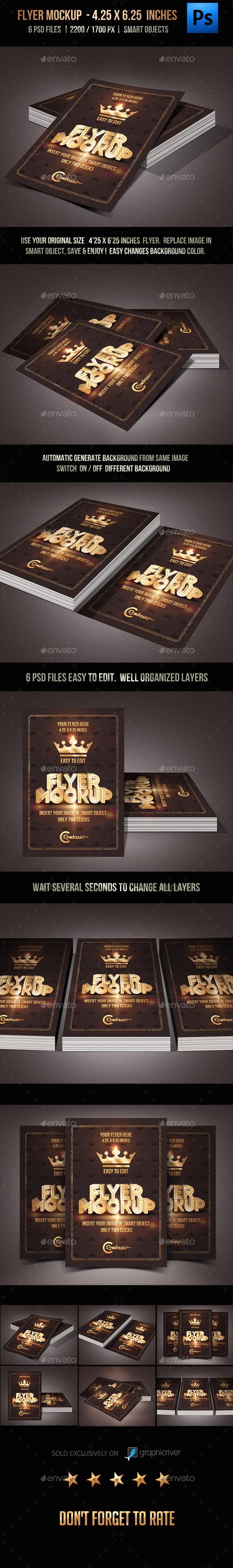 Flyer Mockup - Product Mock-Ups Graphics