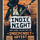 Indie Night Poster/Flayer - GraphicRiver Item for Sale