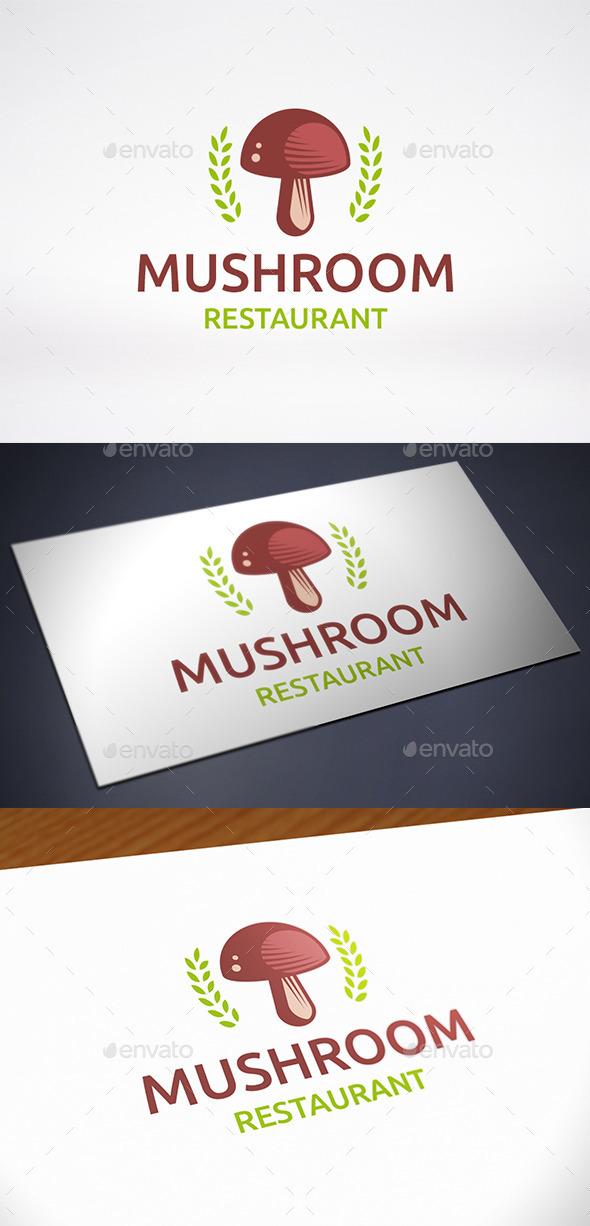 Mushroom Logo Template - Food Logo Templates