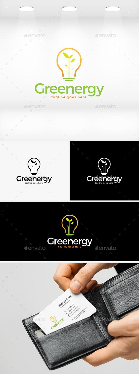 Greenergy (Green Energy) Logo - Nature Logo Templates