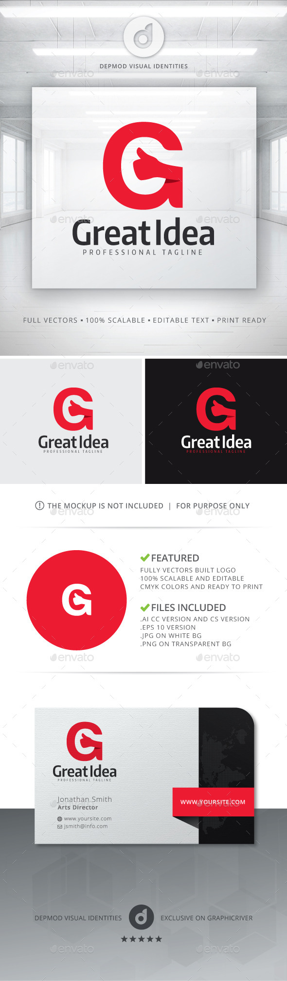 Great Idea Logo - Letters Logo Templates