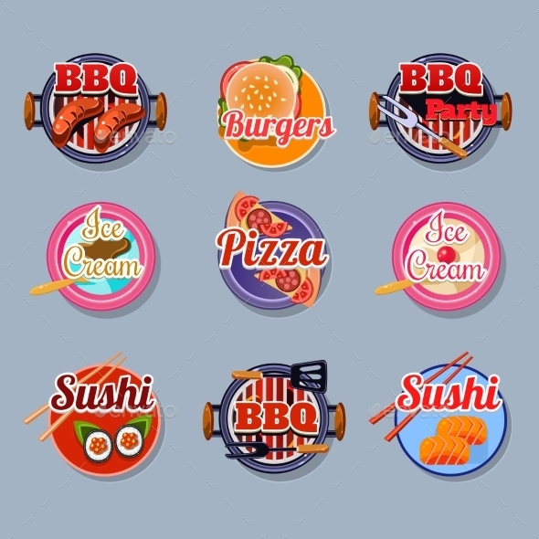 Stickers Set of Food - Food Objects
