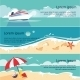 Set of Horizontal Banners with Seaside  - GraphicRiver Item for Sale