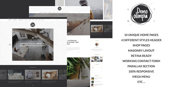 Demo Olimpia | Personal Blog HTML Template - Creative Site Templates