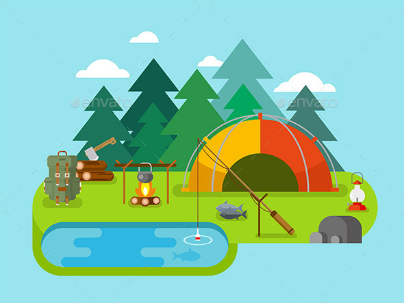 Outdoor Recreation Fishing Camp - Landscapes Nature