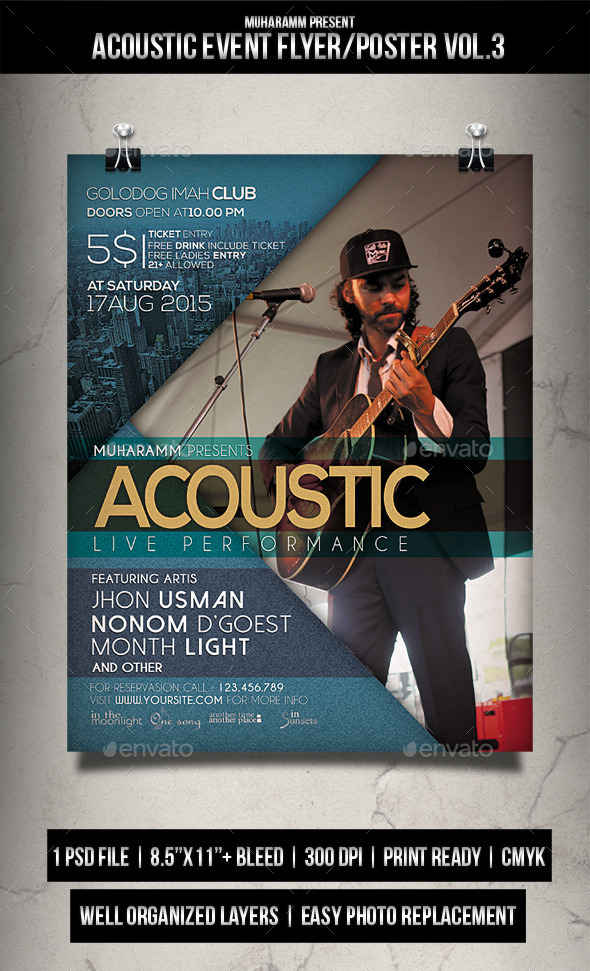 Acoustic Event Flyer / Poster V.3 - Events Flyers