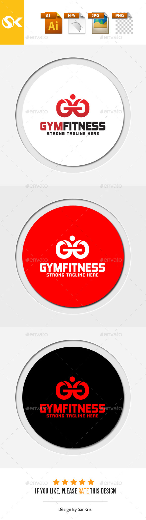 Gym Fitness Logo - Letters Logo Templates