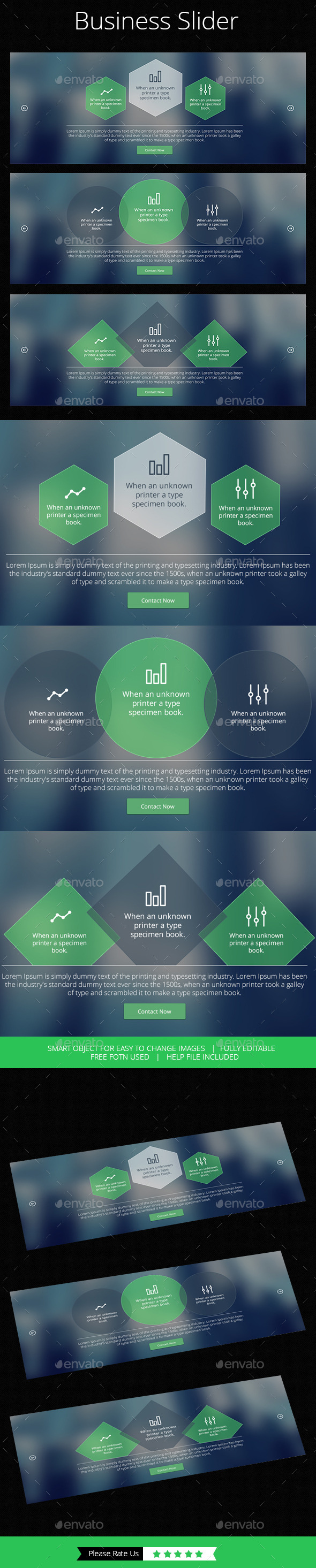 Simple Business Slider - Banners & Ads Web Elements