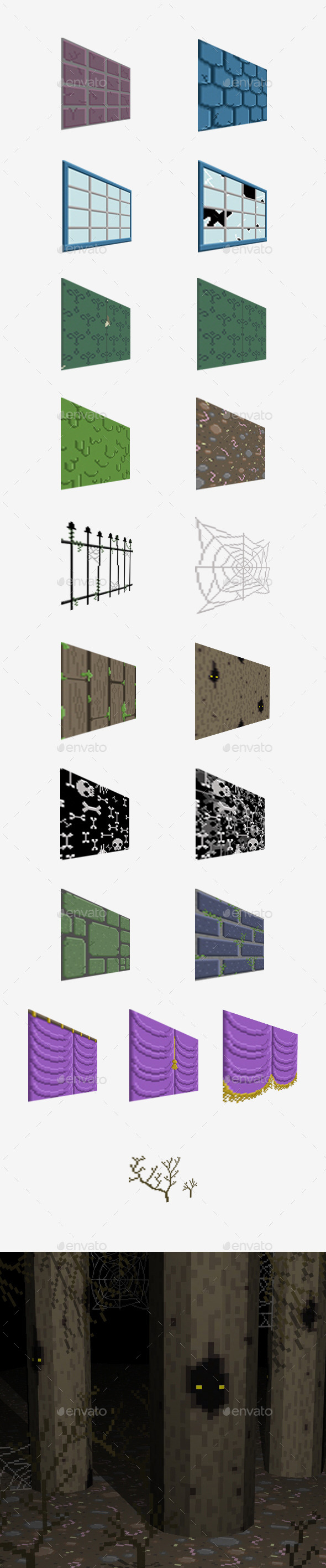 Haunted House Pixel Pack - Tilesets Game Assets