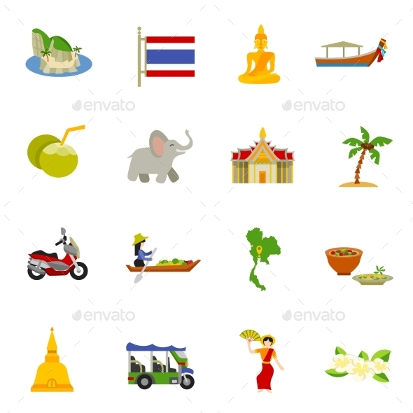 Thailand Icons Set  - Seasonal Icons