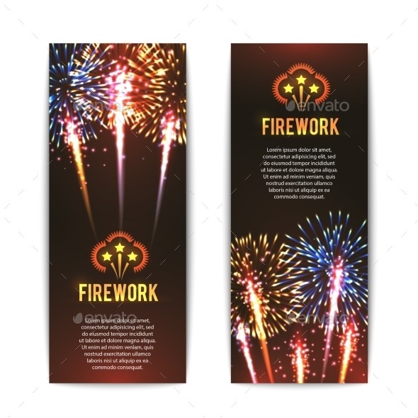 Festive Firework Vertical Banners Set - Miscellaneous Seasons/Holidays