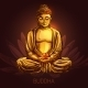 Buddha on Lotus Flower Illustration - GraphicRiver Item for Sale