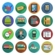 Online Shopping Flat Icon Set - GraphicRiver Item for Sale