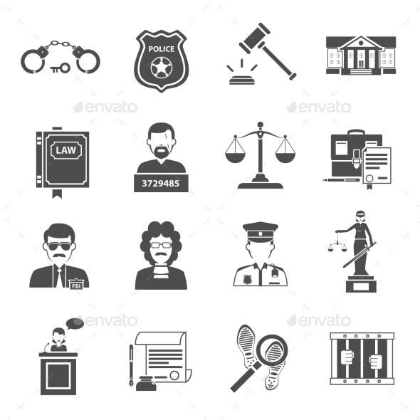 Law Icons - Miscellaneous Vectors