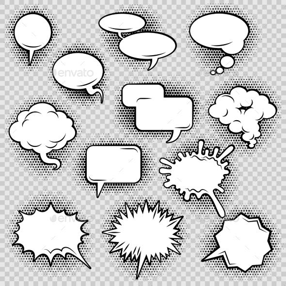 Comic Speech Bubbles - Abstract Conceptual