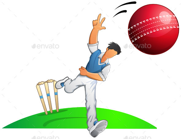 Cricket Player Fast Bowler - Sports/Activity Conceptual